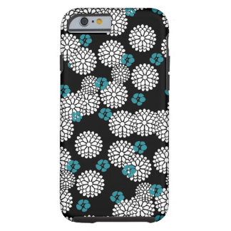 Sakura white black blue iPhone 6 case skin