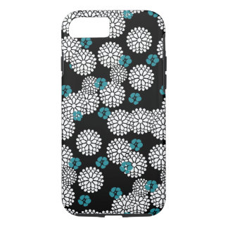 Sakura white black blue iPhone 7 case skin