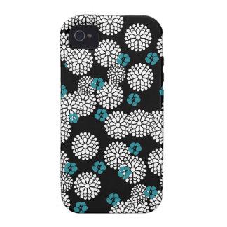 Sakura white black blue iPhone case skin iPhone 4/4S Case