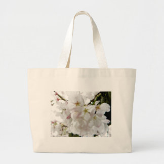 Sakura White Large Tote Bag