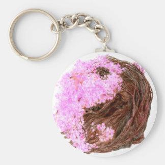 Sakura Yin Yang Keychain