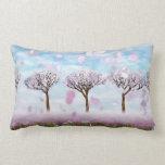 """Sakurama - Cherry trees - Throw Pillow Lumbar 13"""""""