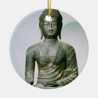 Sakyamuni asentado Buda de Ch'ungung-ni (hierro) Adorno Redondo De Cerámica