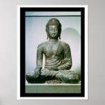 Sakyamuni asentado Buda de Ch'ungung-ni (hierro) Posters