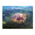 sal aérea del EL del volcán Tarjeta Postal