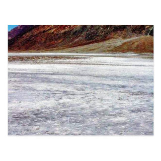 Sal de Death Valley Tarjeta Postal