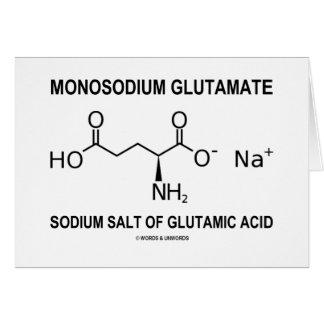 Sal del sodio del glutamato monosódico del ácido g felicitación