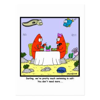 Sal: Dibujo animado de los pescados Postal