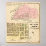Sala 2 de Pittsburgh, mapa de Pennsyvania 1784 Póster