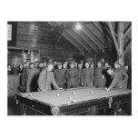 Sala de billar de la guerra mundial 1 YMCA, los añ Postales
