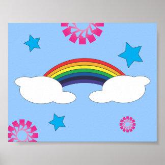 Sala de clase del arco iris y de las estrellas impresiones