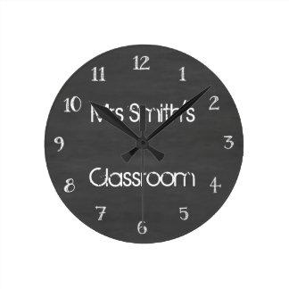 Sala de clase personalizada de la pizarra reloj redondo mediano
