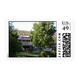 Sala de degustaciones de los sótanos de la caza, timbres postales
