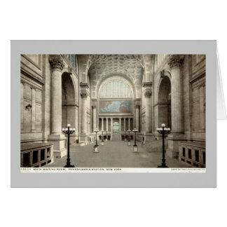 Sala de espera, vintage 1913 de la estación NY de Tarjeta De Felicitación