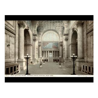 Sala de espera vintage 1913 de la estación NY de Postales