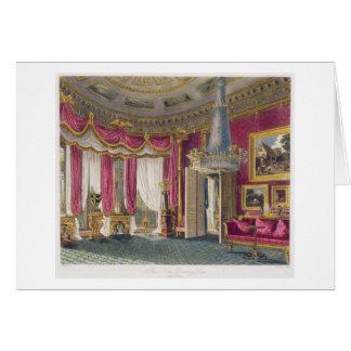 Sala de estar color de rosa del satén (segunda vis tarjeta de felicitación