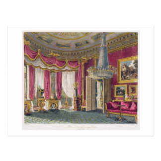 Sala de estar color de rosa del satén (segunda vis tarjetas postales