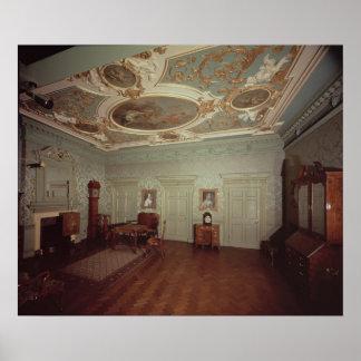 Sala de estar de James Gibbs del lugar de Henriett Póster