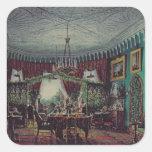 Sala de estar de la emperatriz Alexandra Calcomanías Cuadradases