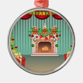 Sala de estar del navidad adorno navideño redondo de metal