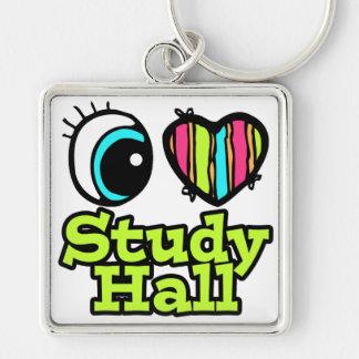 Sala de estudio brillante del amor del corazón I d Llaveros Personalizados