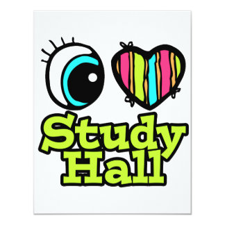 """Sala de estudio brillante del amor del corazón I Invitación 4.25"""" X 5.5"""""""