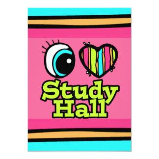 """Sala de estudio brillante del amor del corazón I Invitación 4.5"""" X 6.25"""""""