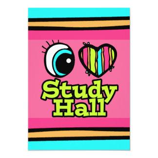 """Sala de estudio brillante del amor del corazón I Invitación 5"""" X 7"""""""