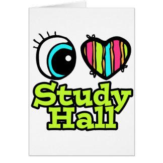 Sala de estudio brillante del amor del corazón I Tarjeta De Felicitación