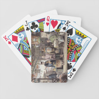 Sala de exposición de un comerciante de la lintern cartas de juego