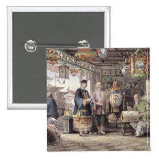 Sala de exposición de un comerciante de la lintern pin cuadrada 5 cm