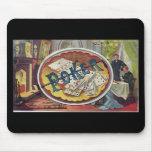 Sala de fumadores para hombre del póker del vintag tapete de raton