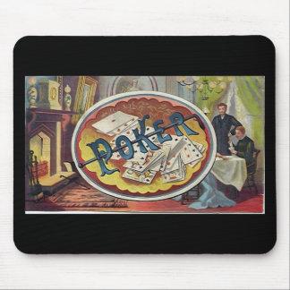 Sala de fumadores para hombre del póker del vintag alfombrillas de ratón
