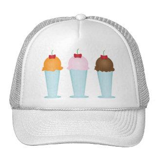 Sala de helado gorros bordados
