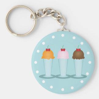Sala de helado llaveros personalizados