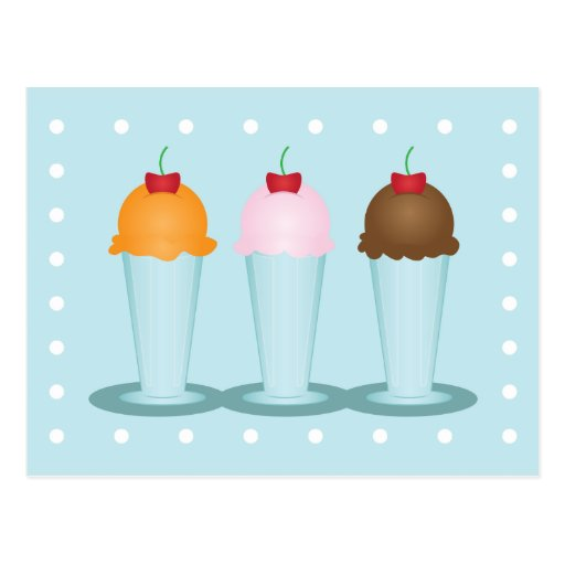 Sala de helado postales
