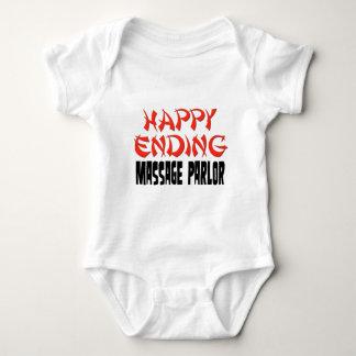 Sala de masaje feliz de la conclusión mameluco de bebé