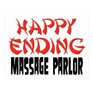 Sala de masaje feliz de la conclusión tarjeta postal