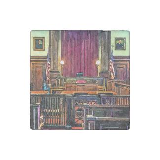 Sala de tribunal imán de piedra