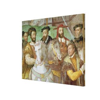 Sala dei Fasti Farnese Canvas Print