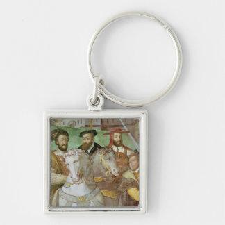 Sala dei Fasti Farnese Silver-Colored Square Keychain