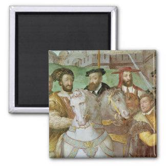 Sala dei Fasti Farnese 2 Inch Square Magnet