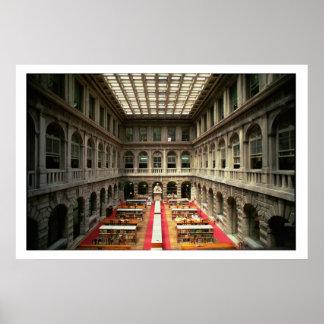 Sala di Lettura, built in 1537-88 (photo) Poster