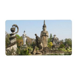 Sala Keo Kou, Nong Khai, Tailandia Etiqueta De Envío