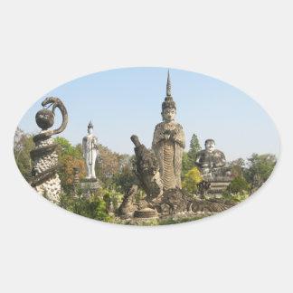 Sala Keo Kou Nong Khai Tailandia Pegatina De Óval