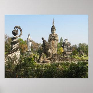 Sala Keo Kou, Nong Khai, Tailandia Póster