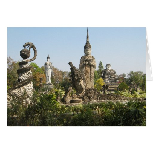 Sala Keo Kou, Nong Khai, Thailand Greeting Card