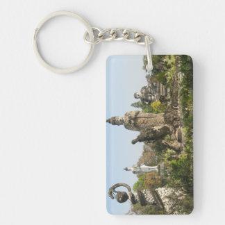 Sala Keo Kou, Nong Khai, Thailand Double-Sided Rectangular Acrylic Keychain