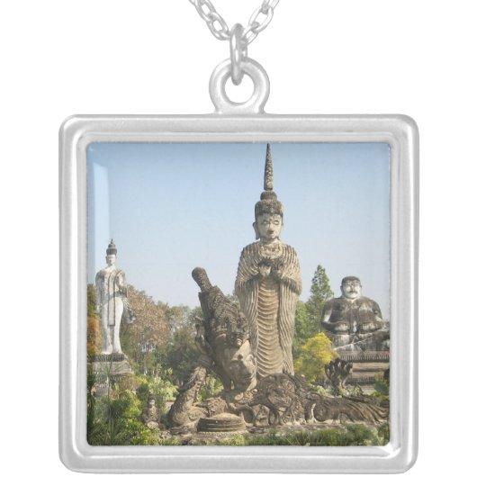 Sala Keo Kou, Nong Khai, Thailand Silver Plated Necklace