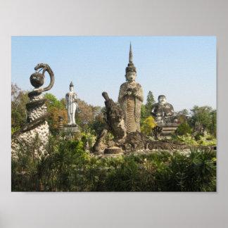 Sala Keoku, Nong Khai, Tailandia Póster